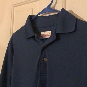 Grand Slam Shirts - Adult Small Blue Polo